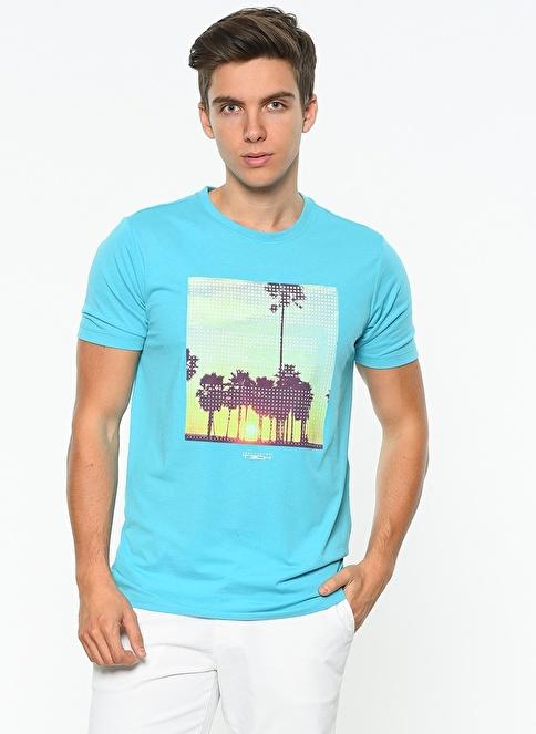 Jack & Jones Baskılı T-Shirt Mavi
